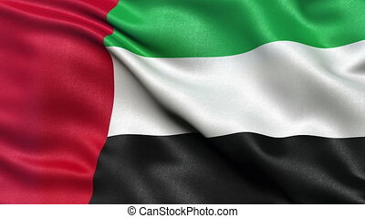 United Arab Emirates flag loop - Seamless flag of the United...