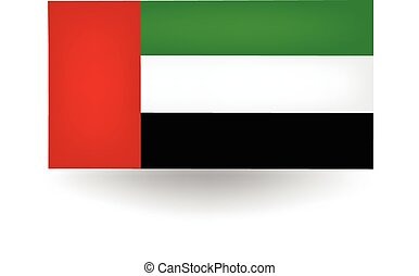 United Arab Emirates Flag - Official flag of the United Arab...