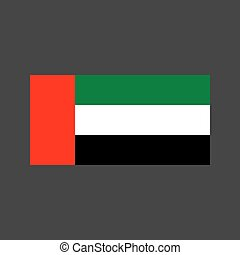 United Arab Emirates flag on the gray background. Vector...
