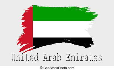 United Arab Emirates flag on white background