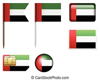 United Arab Emirates flag set