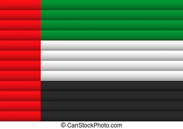 United Arab Emirates Flag. Vector Illustration.