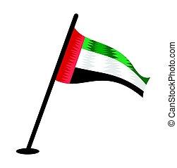 United Arab Emirates flag - Vector illustration of the flag...