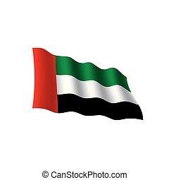 United Arab Emirates flag, vector illustration