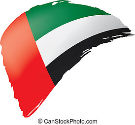 United Arab Emirates flag, vector illustration on a white background.