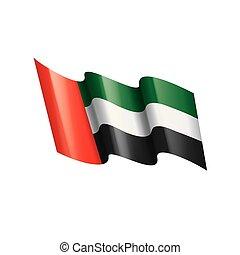 United Arab Emirates flag, vector illustration on a white background