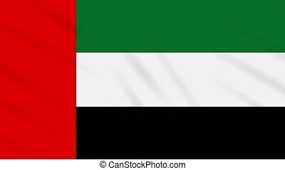 United Arab Emirates flag waving, background loop - United...