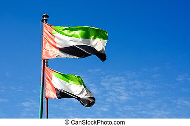 United Arab Emirates flag winding in the wind