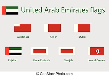 United Arab Emirates flags - Vector icon flags of United...