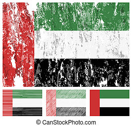 United Arab Emirates grunge flag se