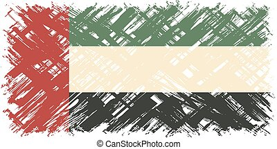 United Arab Emirates grunge flag. Vector illustration.