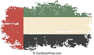 United Arab Emirates grunge flag. Vector