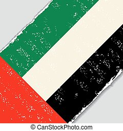 United Arab Emirates grunge flag. Vector illustration.
