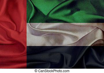 United Arab Emirates grunge waving flag