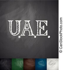 United Arab Emirates icon. Hand drawn vector illustration....