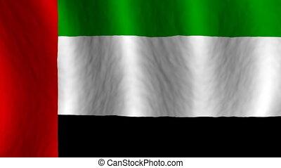 United Arab Emirates Looping Flag Animated Background