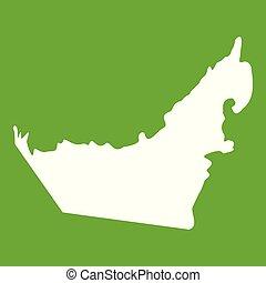 United Arab Emirates map icon green