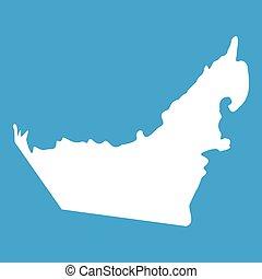 United Arab Emirates map icon white