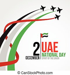 United Arab Emirates national day background design with...