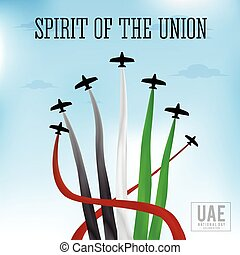 United Arab Emirates national day background design with...