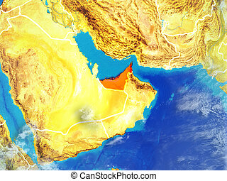 United Arab Emirates on Earth from space