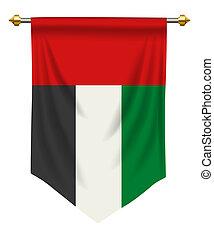 United Arab Emirates Pennant - United Arab Emirates flag or...