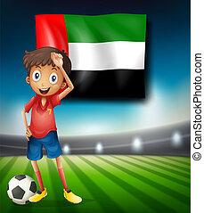 United Arab Emirates soccer player illustration