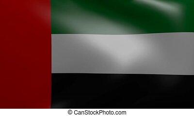 united arab emirates strong wind flag