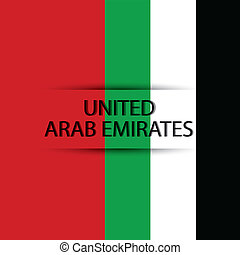 United Arab Emirates text on special background allusive to...