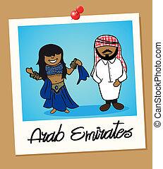 United Arab Emirates travel polaroid people - Arabic man and...