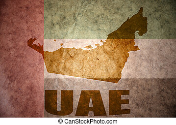 united arab emirates vintage map