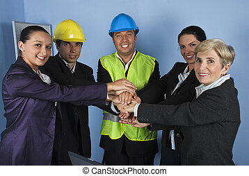 United  business team of architects