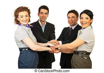 United cheerful business people team