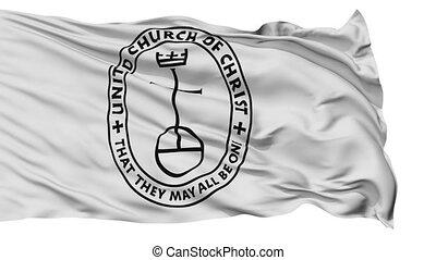 United Church Christ Religious Isolated Waving Flag - United...