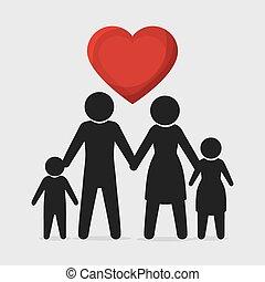 United family graphic design, vector illustration eps10