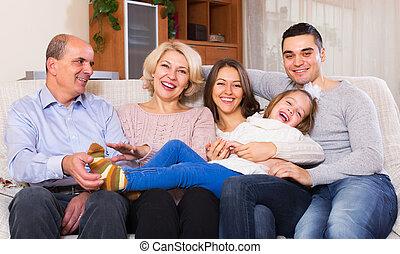 United family in living room