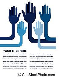 United hands design.