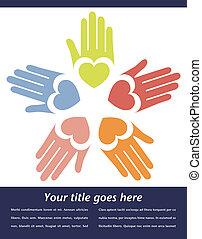 United hands vector.  - United hands vector design.
