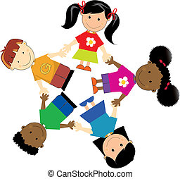 united Kids - group of kids of different nationalities
