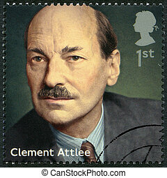 UNITED KINGDOM - 2014: shows Clement Attlee (1883-1967), politic