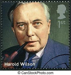 UNITED KINGDOM - 2014: shows Harold Wilson (1916-1995), politici