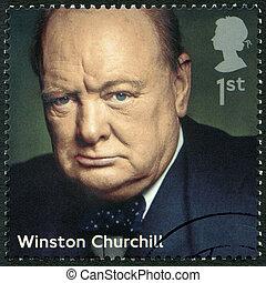 UNITED KINGDOM - 2014: shows Winston Churchill (1874-1965), poli