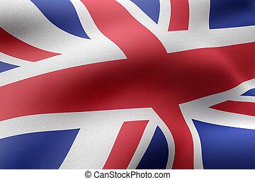 United Kingdom 3d flag