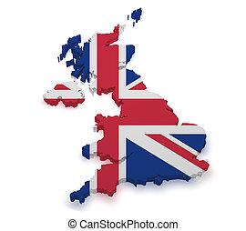 United Kingdom 3d Shape - Shape 3d of United Kingdom map...