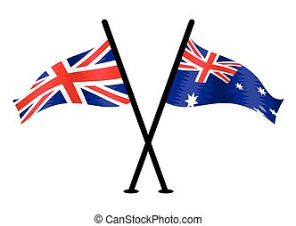 United Kingdom and Australia vector