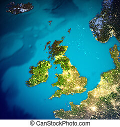 United Kingdom and Ireland map. Elements of this image...