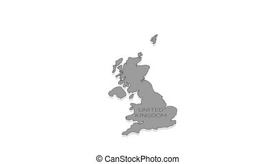 United Kingdom animated map with alpha channel. - Stylish ...