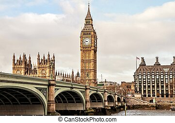 United Kingdom, Big Ben and Westminster bridge, London