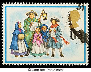 Christmas Postage Stamp - UNITED KINGDOM - CIRCA 1978: A ...