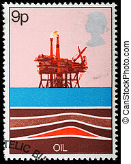 Postage Stamp - UNITED KINGDOM - CIRCA 1978: A British Used...